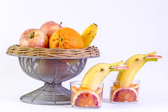 Variety of fruits Stock Photos