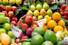 Variety of fruits at the market Royalty Free Stock Photos