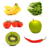 Variety of fruits and vegetables Stock Photo