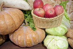 Variety of fruits and vegetables Royalty Free Stock Photography