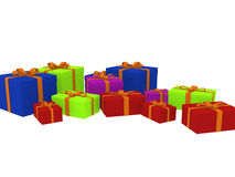 Variety of gift boxes Stock Images