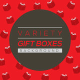 Variety Gift Boxes Background Stock Photo