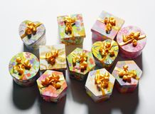 Variety of Gift Boxes, Christmas Gift Boxes Stock Photography