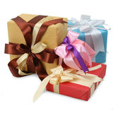Variety of gift boxes Stock Photos