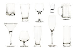 Variety of glasses Royalty Free Stock Image