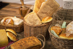 Variety of gluten free bread and pastry. Royalty Free Stock Photography
