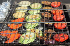 A variety of grilled vegetables Royalty Free Stock Image