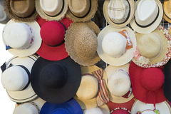Variety of the hats Stock Photos