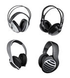 Variety of headphones Stock Photography