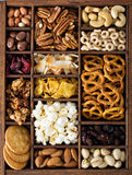 Variety of healthy snacks overhead shot Stock Photography