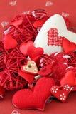 Variety of heart decorations Stock Photos