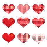 Variety of heart shape design Stock Photo