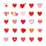 Variety heart shape. Royalty Free Stock Photography