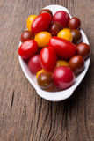 Variety of Heirloom Cherry Tomatoes Royalty Free Stock Photography