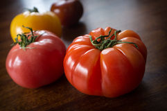Variety Heirloom Tomatoes Royalty Free Stock Photography