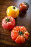 Variety Heirloom Tomatoes Royalty Free Stock Photo