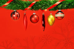 Variety of holidays balls hanging Stock Image
