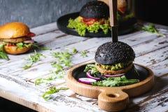 Variety of homemade burgers Stock Photo