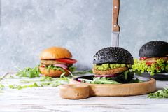 Variety of homemade burgers Stock Image