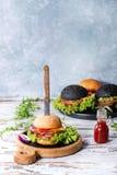 Variety of homemade burgers Stock Photos