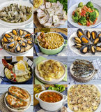 Variety of homemade dishes Royalty Free Stock Images