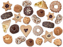 Variety of homemade wholemeal christmas cookies Royalty Free Stock Photography