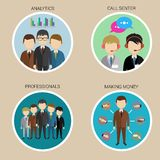 Variety Human Resource Icons, vector Stock Photo