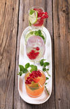 Variety of iced drinks Stock Images