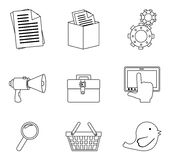 Variety of icons Royalty Free Stock Photo