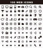 100 variety icons, web icon set. For business Royalty Free Stock Photography