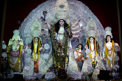 A variety of Idols of Maa Durga at Durga puja Royalty Free Stock Images