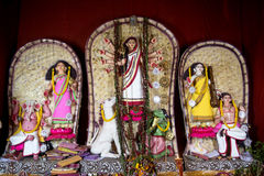 A variety of Idols of Maa Durga at Kolkata Stock Photography