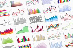 A variety of infographics samples Stock Image