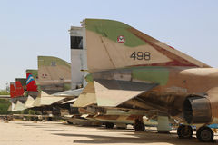A variety of Israeli Air Force and foreign aircraft on display at The Israeli Air Force Museum. HATZERIM, ISRAEL - MAY 2, 2017: A variety of Israeli Air Force Royalty Free Stock Photos