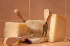 Italian cheeses. Variety of Italian cheeses, parmesan cheese, pecorino, asiago Royalty Free Stock Image