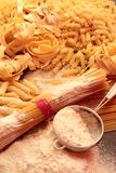 Variety of italian pasta Royalty Free Stock Photography