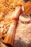 Variety of italian pasta Stock Photo