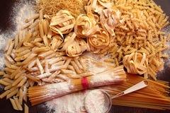 Variety of italian pasta Royalty Free Stock Photo