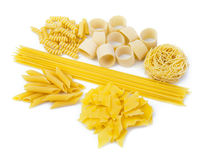 Variety of Italian pasta Royalty Free Stock Photos