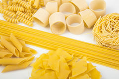 Variety of Italian pasta Stock Photography