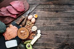 Variety of Ketogenic Diet Foods royalty free stock photos