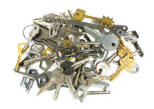 The variety of keys Royalty Free Stock Photography