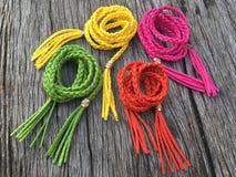 Variety leather rope twist belt Stock Image