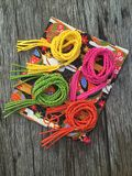 Variety leather rope twist belt Stock Photos
