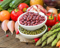 Variety or legumes and paper Stock Photography