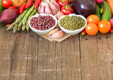Variety or legumes and paper Stock Images