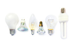 Variety of light bulbs Royalty Free Stock Images