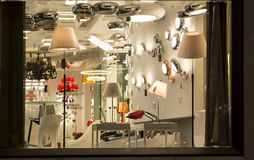 A variety of lightings In a lighting shop,Commercial lighting, Home Furnishing lamp royalty free stock photos
