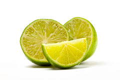 Variety of Lime Slices Stock Image