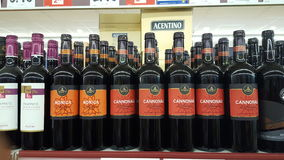 Variety of liquors in an Italian supermarket Stock Images